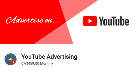 Youtube digital advertising